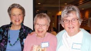 Tamara Bliss, Alice Wolpert and Sondra Shick, LWV's new 50-Year Members